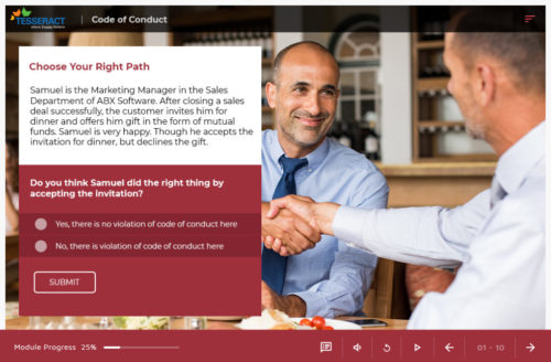 custom eLearning - Code of Conduct