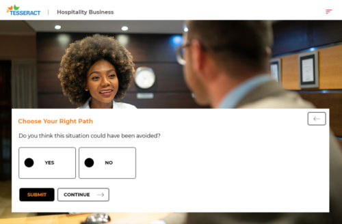 custom eLearning - Hospitality Question and answers approach