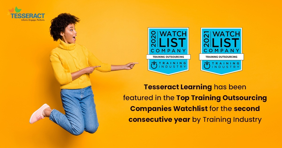 Tesseract Learning Recognized as a Top Training Outsourcing Company by Training Industry for the 2nd Consecutive Year!