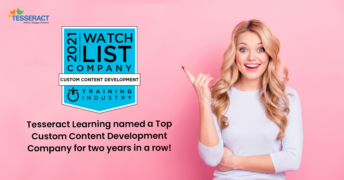 Custom Content Development – Tesseract Learning named a top provider yet again!